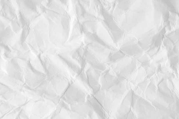 Textura o fondo de papel arrugada blanco de la lista.