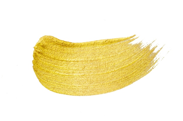 Textura de oro. trazo de pincel dibujado a mano.