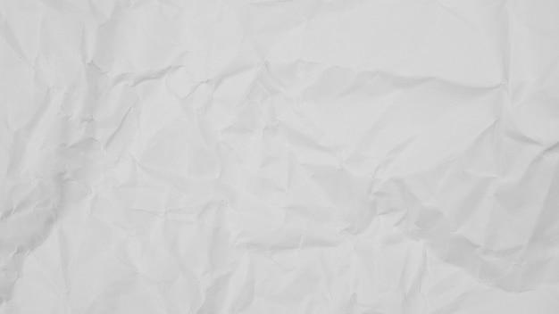 Textura de papel arrugado blanco