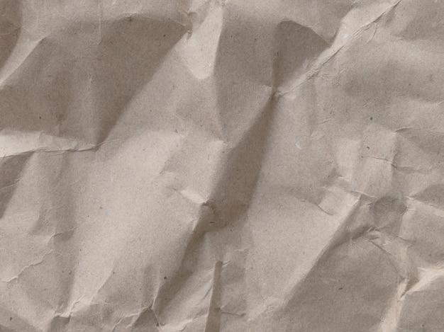 Textura de papel arrugado marrón