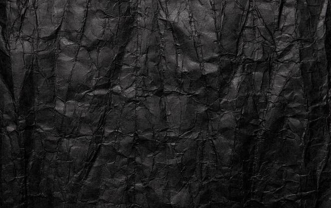 Textura de papel arrugado negro, viejo grunge