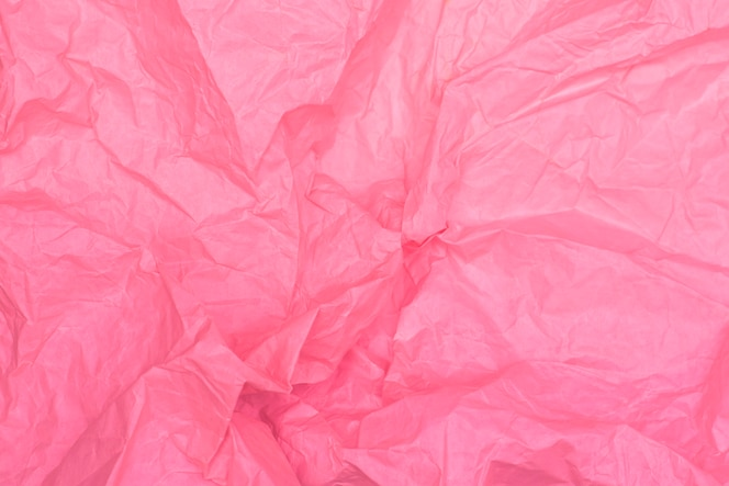 Textura de papel arrugado rosa brillante, fondo rosa, fondo de pantalla