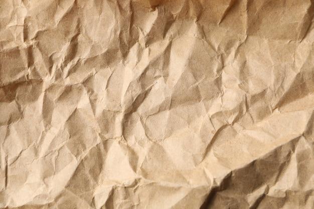 Textura de papel artesanal arrugado, de cerca