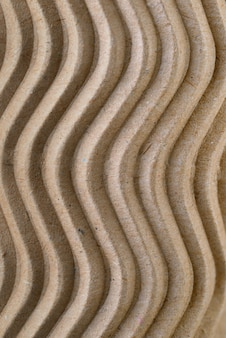 Textura de papel de cartón de color marrón reciclado ondulado