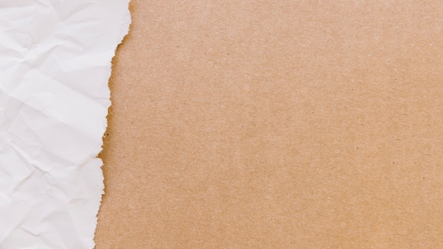 Textura de papel rasgado con cartón