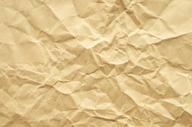 Textura de papel reciclado arrugado marrón