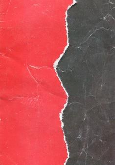 Textura de papel rojo rasgado vintage antiguo