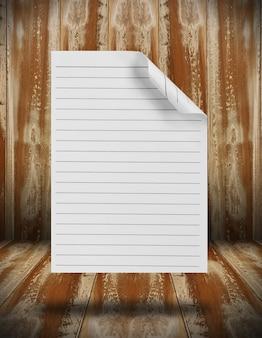 Textura de papel sobre fondo de madera