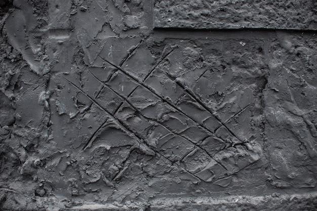 La textura de la pared de arcilla con arañazos y astillas1.