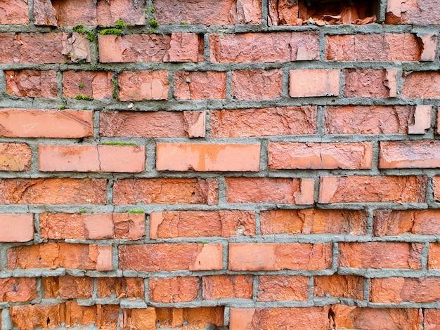 Textura de pared de ladrillo antiguo. pared de ladrillos históricos.