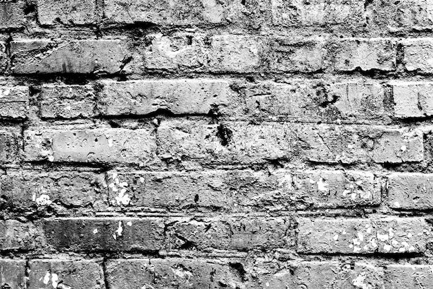 Textura de una pared de ladrillos con fondo de grietas y arañazos