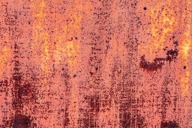 Textura de una pared de metal con grietas y arañazos