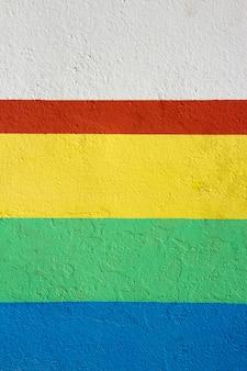 Textura de pared con pintura roja, verde y amarilla. fondo.