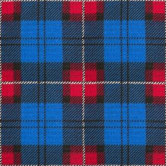 Textura de patrón de tela de tela de tejido textil sin costuras celda azul rojo textil