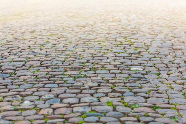 Textura de pavimento de piedra en perspectiva.