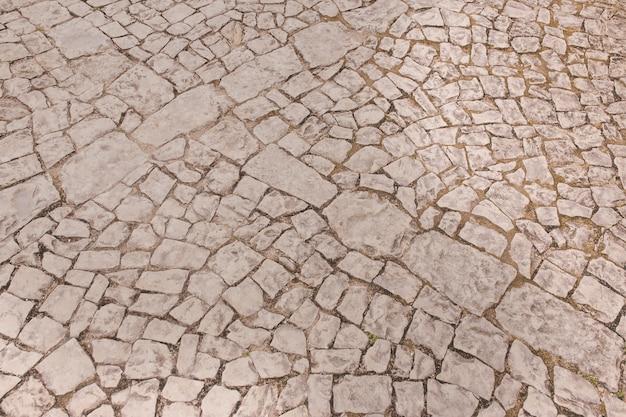 Textura sin pavimento de piedra
