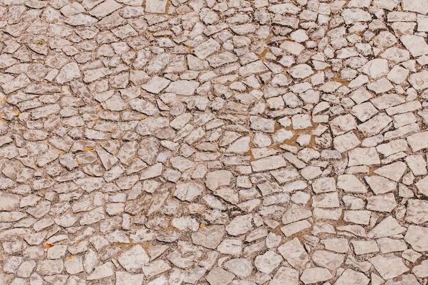 Textura sin pavimento de piedras