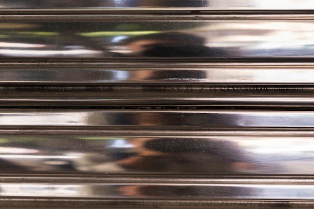 Textura de persiana metálica