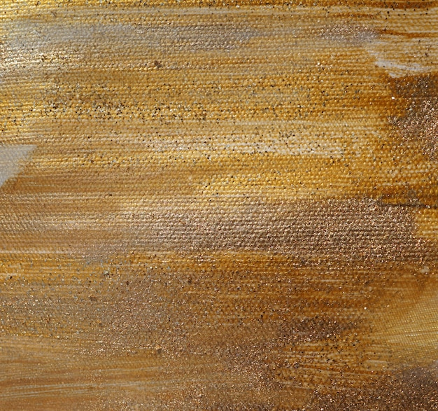 Textura de pintura dorada brillante.