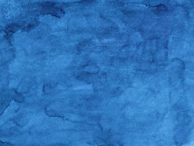 Textura de pintura de fondo azul acuarela