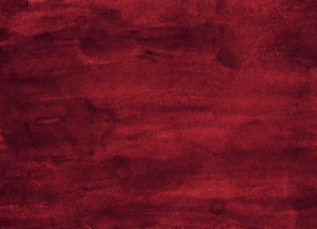 Textura de pintura de fondo rojo oscuro acuarela.
