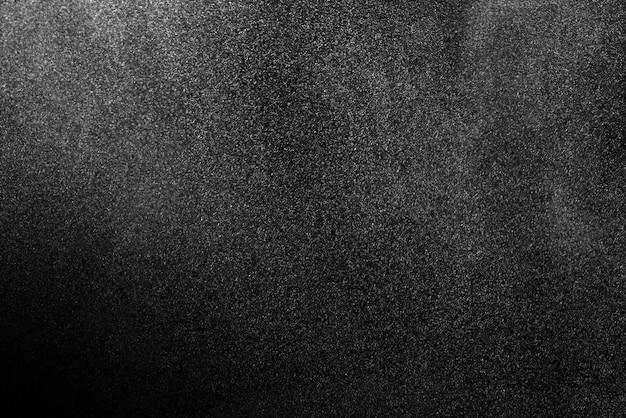 Textura de polvo sobre un fondo negro