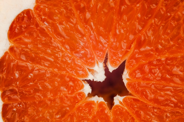 Textura de pomelo maduro sabroso