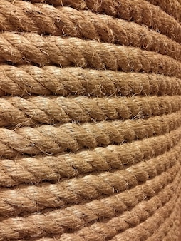 Textura y primer plano realmente grandes de la cuerda áspera y resistente.