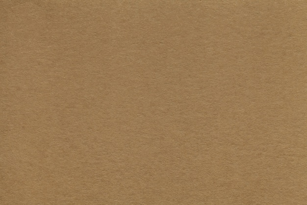 Textura del primer viejo del papel marrón. estructura de cartón denso. el fondo.