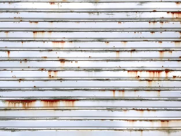 Textura de puerta de acero plegable oxidado