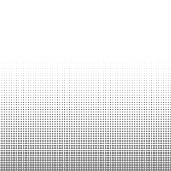 Textura de puntos de semitono de círculo blanco y negro