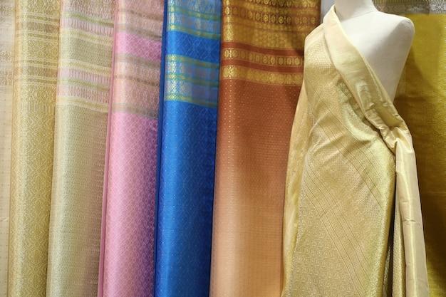 Textura de seda, estilo tailandés