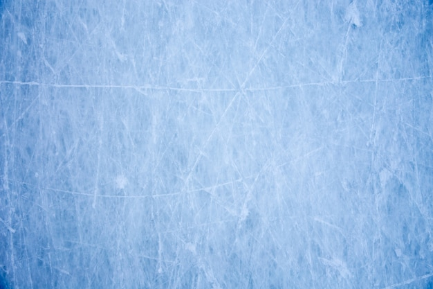 Textura de la superficie de hielo azul con arañazos de skate