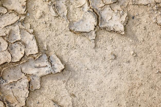 Textura de techo de tierra seca y agrietada