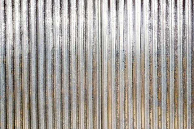 Textura de techo de zinc, fondo de pared de metal oxidado, textura de pared de aluminio, acero de hierro
