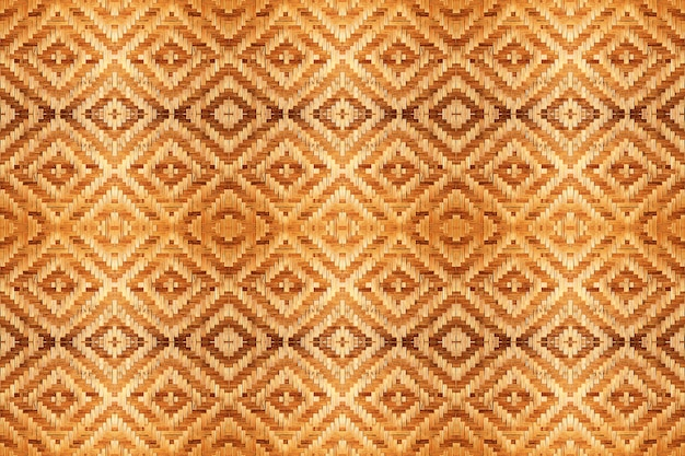Textura tejida bambú abstracto del modelo para el fondo inconsútil.
