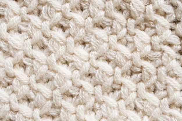 Textura de tejido de lana tejida