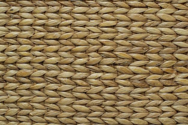 Textura de tejido de ratán de papiro de fondo de alta resolución hecho a mano