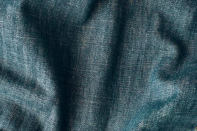 Textura de tela de mezclilla arrugada