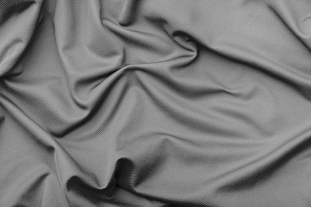 Textura de tela negra arruga de poliéster