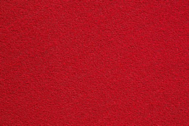 Textura de tela de tela roja de cerca