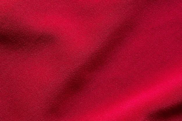Textura de tela de tela roja