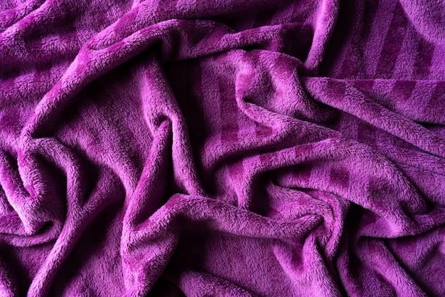 Textura de tela de terciopelo morado