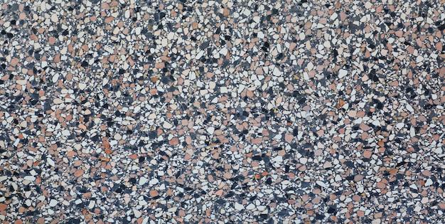 Textura de terrazo o mármol, fondo de piedra pulida.