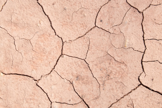 Textura de tierra o tierra seca craquelada durante la sequía.
