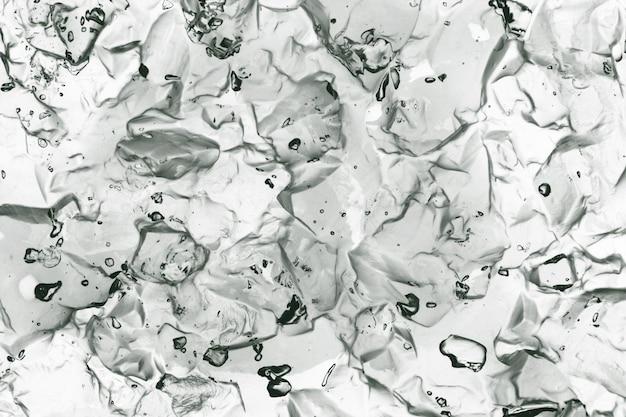 Textura transparente de gelatina cosmética