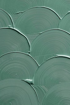 Textura de trazo de pincel curva verde