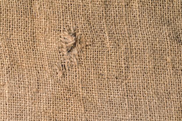 Textura de la vieja tela de saco rústico para el fondo.