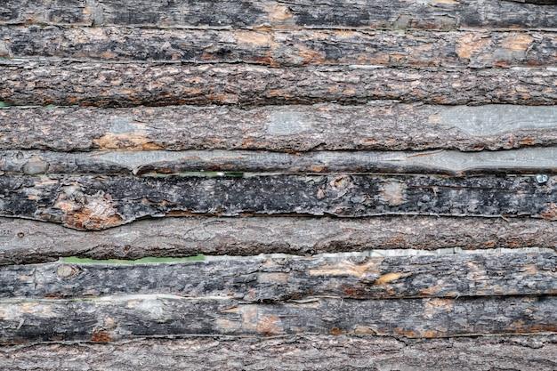 Textura de una vieja valla marrón