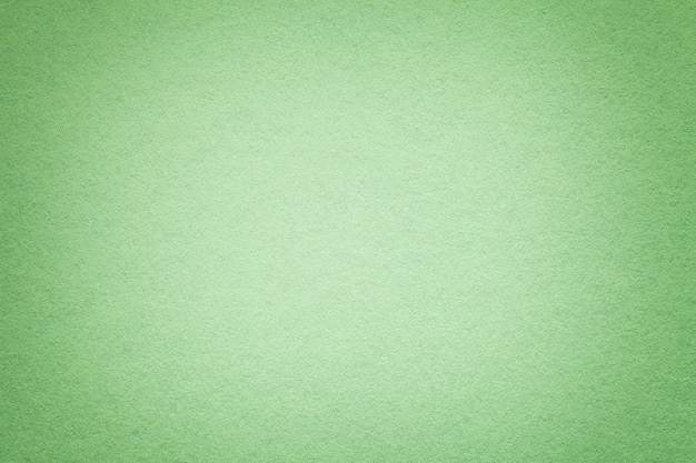 Textura del viejo fondo del libro verde, primer. estructura de cartón denso oliva claro.